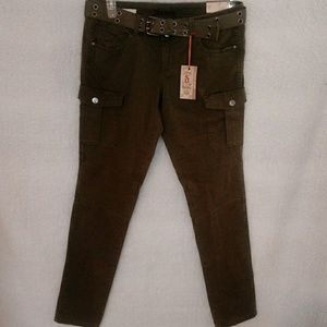 Decree Olive pants with belt